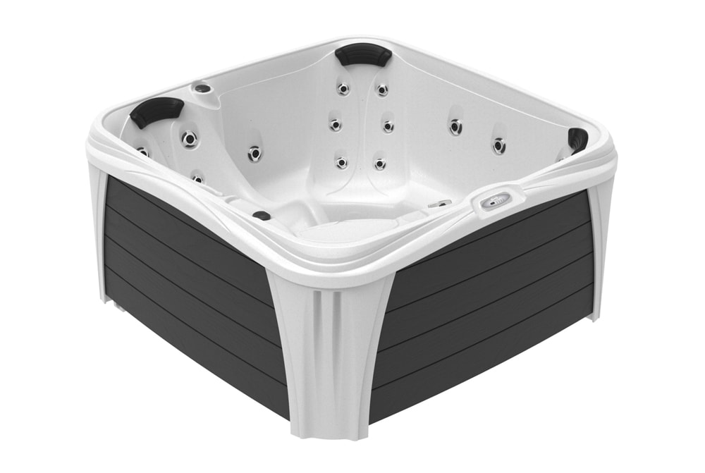 Square hot tub